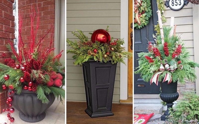 новогодний декор дома снаружи