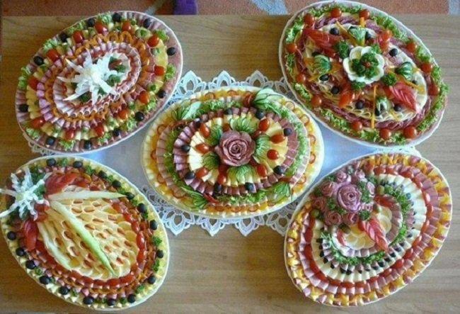 украшение блюд на праздник