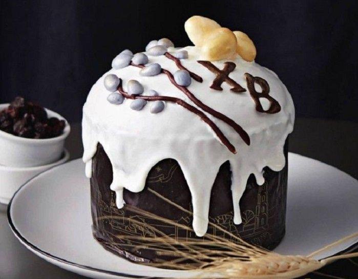 как украсить пасхальный кули шоколадом