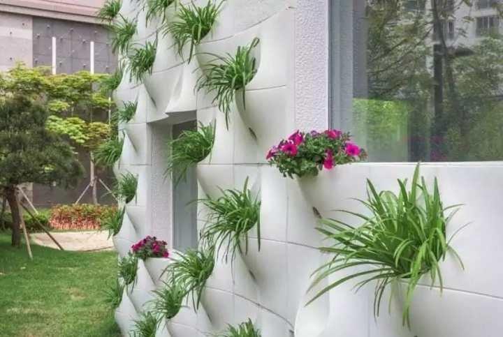 украшение стены цветами
