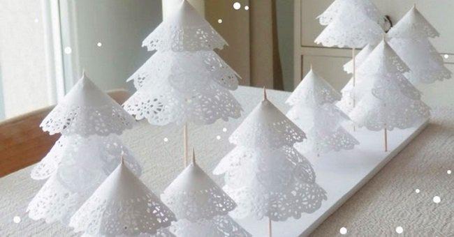 украшение из бумажных снежинок