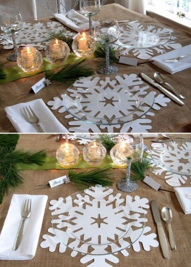 Новогодние украшения на стол из бумаги