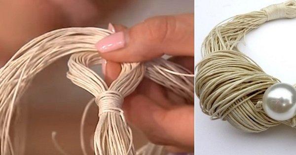 украшения из нитей бисера