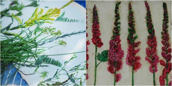 оттиски растений на глине