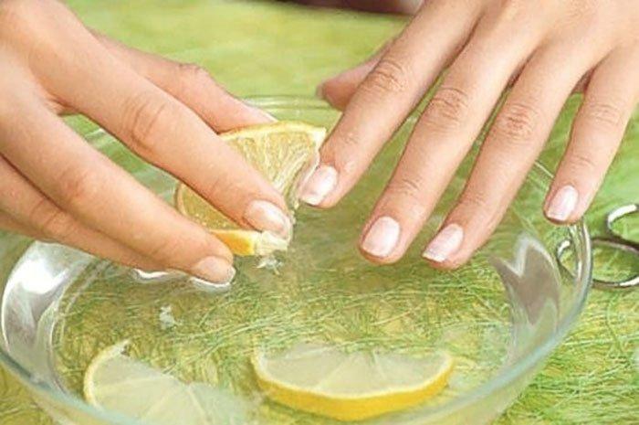 средство для ногтей с желатином и лимоном