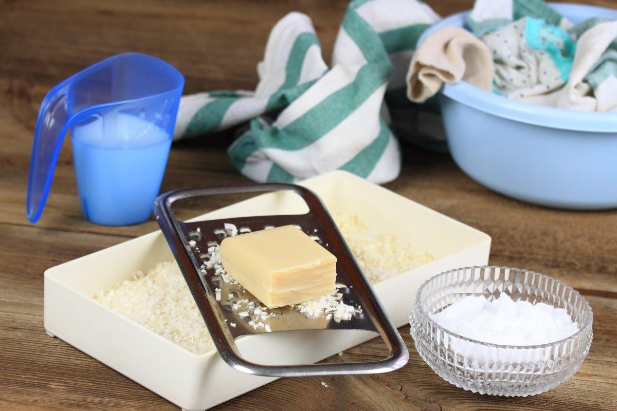 стиральный порошок из мыла и соды