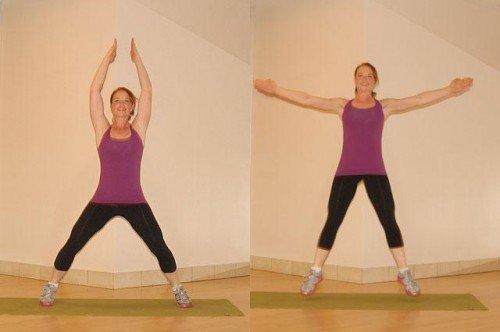 прыжки с разведением рук