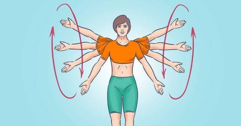 упражнения для рук и плеч в домашних условиях
