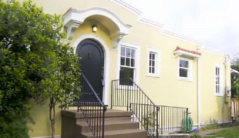 узкий дом на узком участке