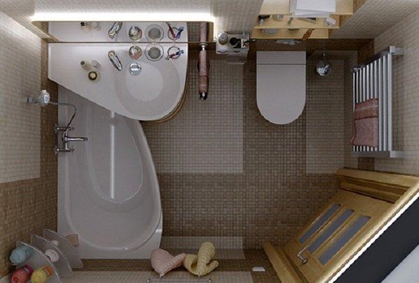 маленькая ванная комната в квартире