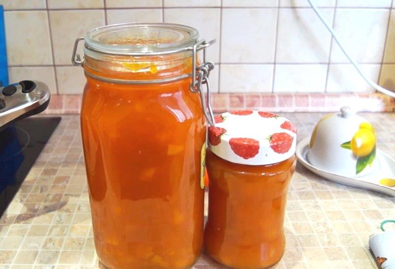 варенье из тыквы с курагой и апельсином