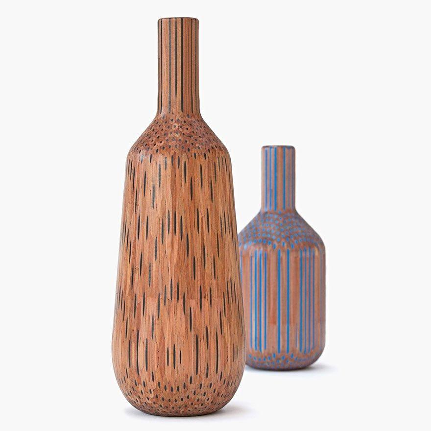 деревянные ваза