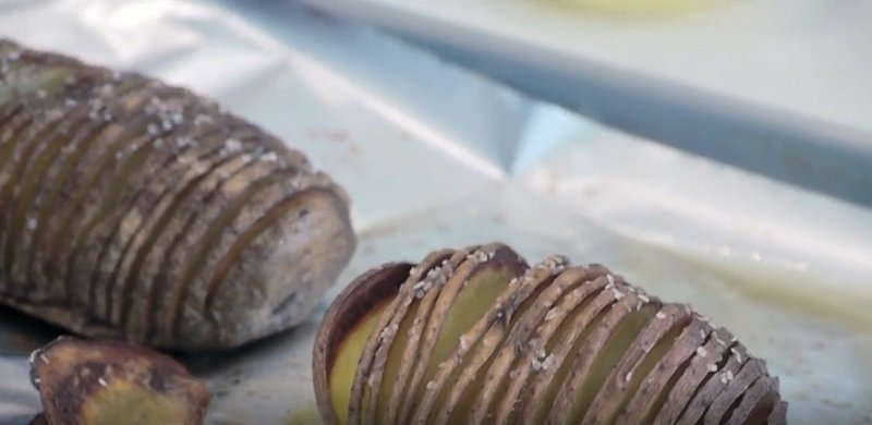 веера из картошки
