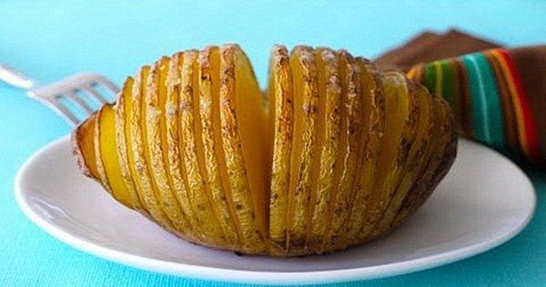 Хрустящие веера! Оригинальный способ приготовления картофеля, который никого не оставит равнодушным!