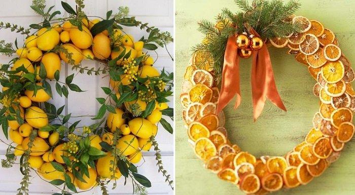венок из долек апельсина