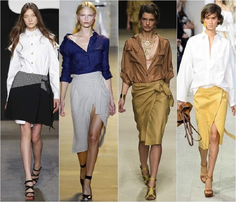 красивые весенние юбки