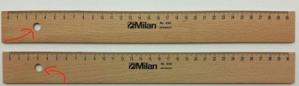 drevené pravítko