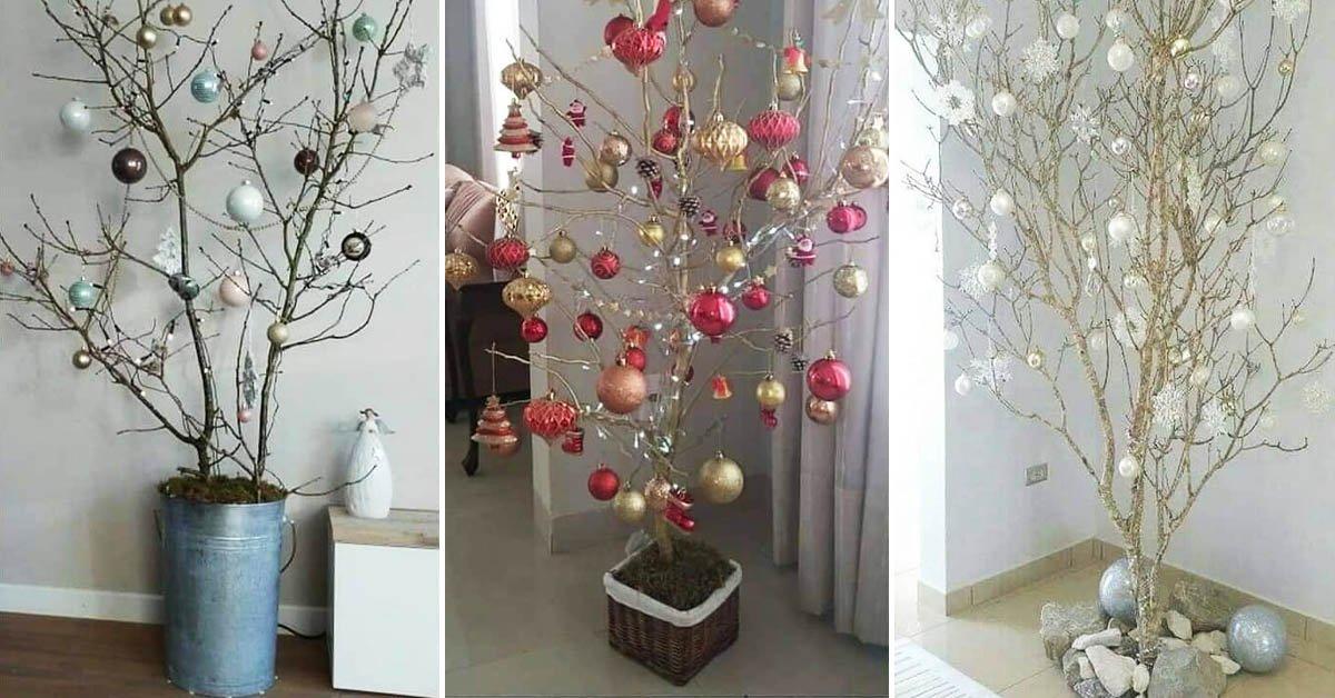 Ветки для декора: как создать в доме новогоднее настроение