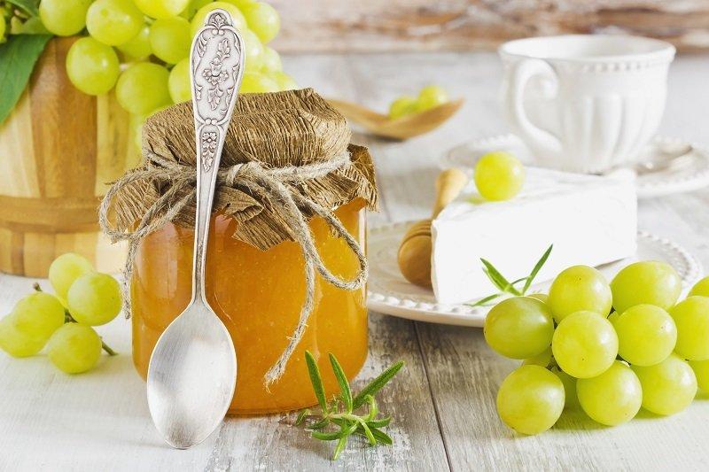 Прозрачное виноградное варенье с целыми виноградинками: варю в два приема