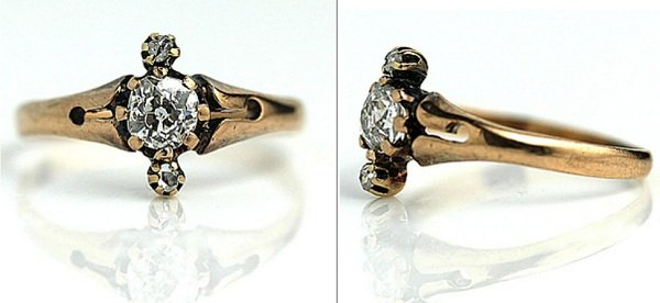 старинное обручальное кольцо