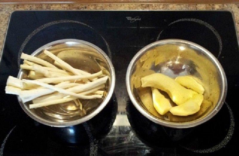 rădăcini de ghimbir și hrean