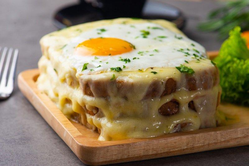 вкусное блюдо с яиц