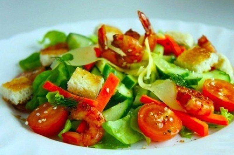 Салаты с креветками рецепты без майонеза