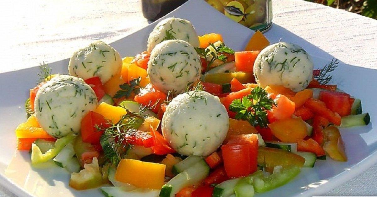 Салаты только из овощей рецепты с