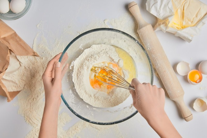 в духовке творожный пирог