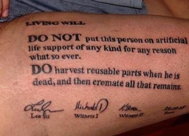 реанимация татуировка