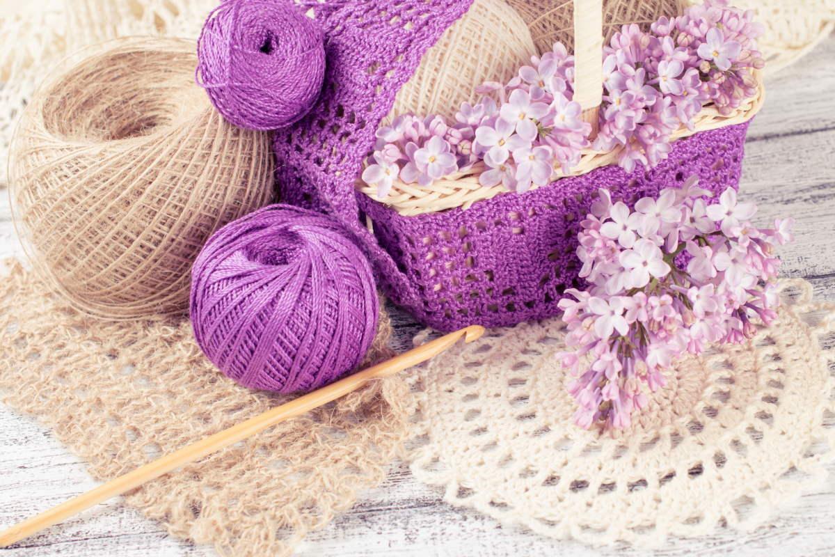 вязание ажурных салфеток