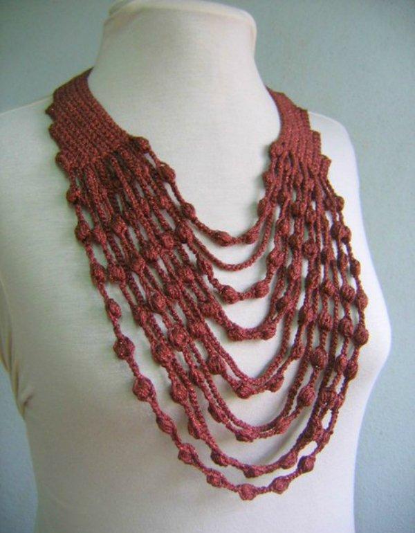 Вяжем шарф-украшения