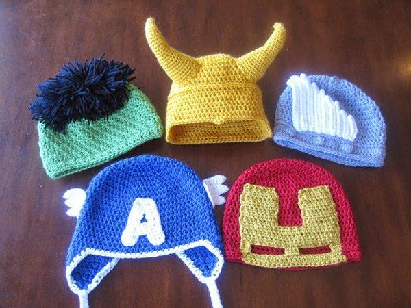 шапочки супергероев