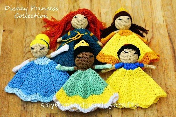 вязаные куклы-принцессы