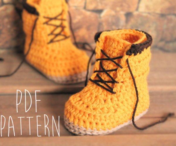 вязаные ботинки