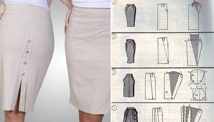 модные юбки из драпа