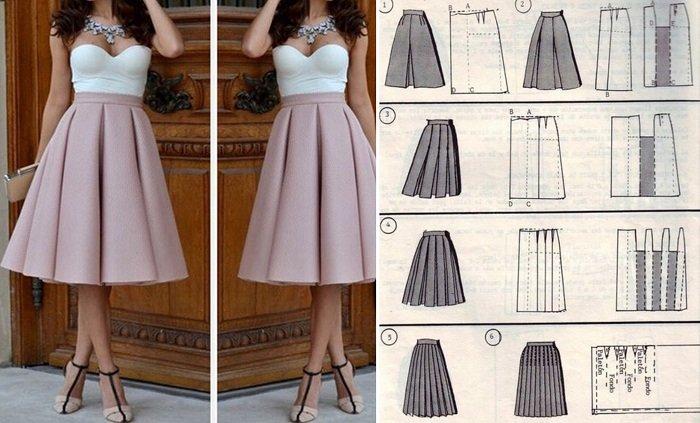 модные юбки из велюра