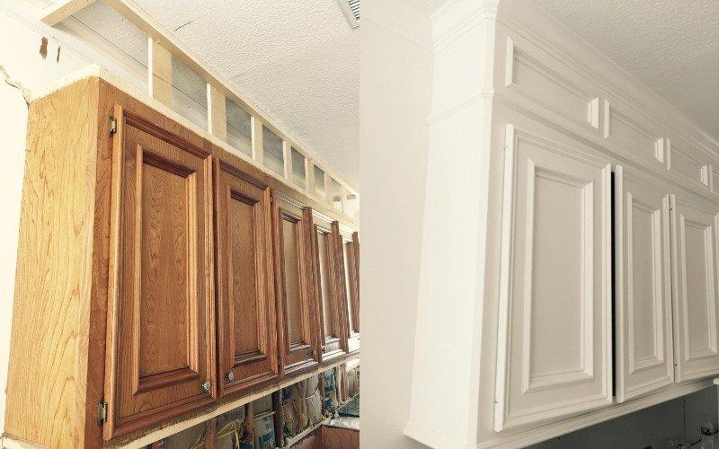 высота установки навесных шкафов на кухне