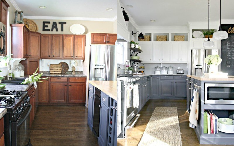 высота установки шкафов на кухне
