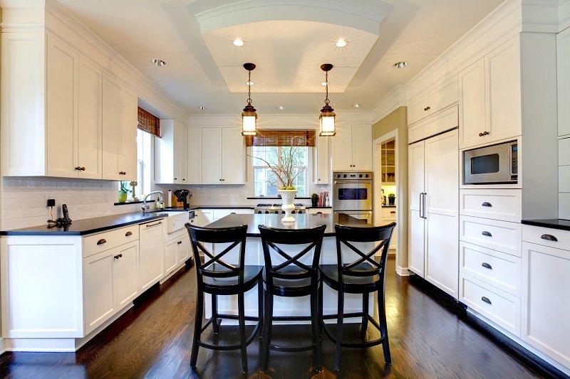 высота подвесных шкафов на кухне