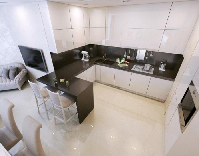 стандартная высота шкафов на кухне
