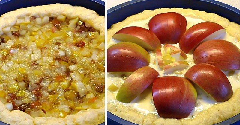 яблочный пирог в духовке простой рецепт