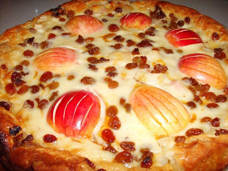 простой яблочный пирог в духовке