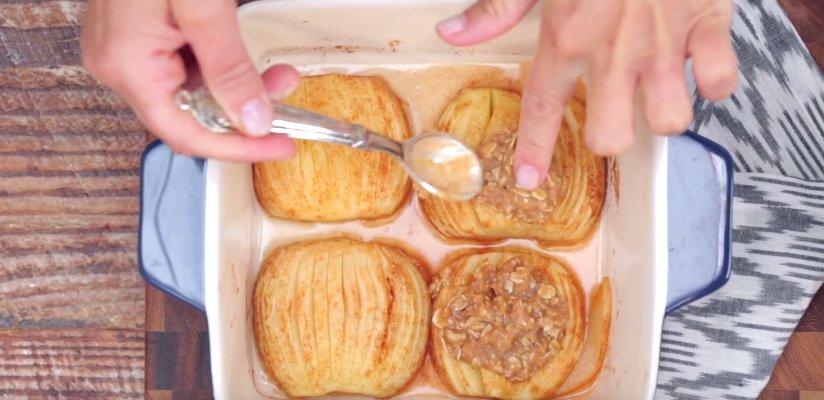 десерт запеченные яблоки рецепт