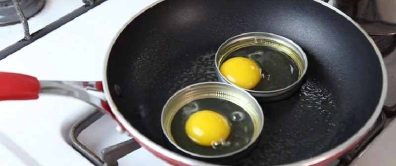 круглая яичница