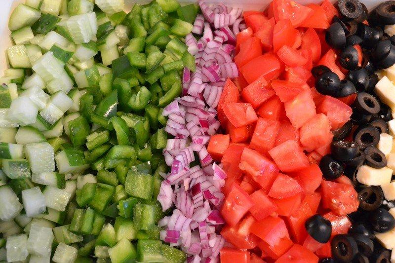 яичный рулет с овощами