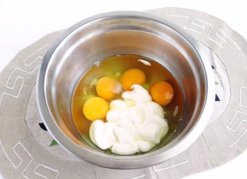 яичный рулет в духовке