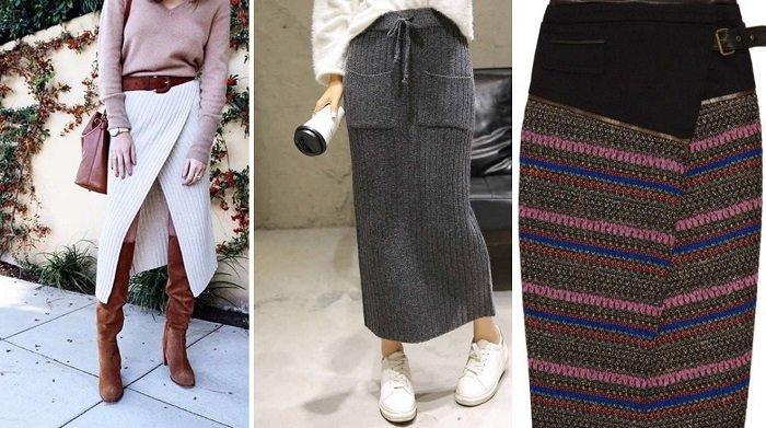 модные юбки из шерсти