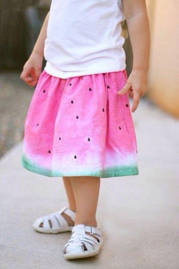 юбка с арбузным принтом