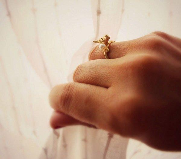 оригинальное золотое кольцо фото